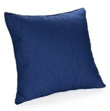 Poetic Wanderlust IRIS New Quilted EURO Sham European Pillow Sham Navy Blue NWT