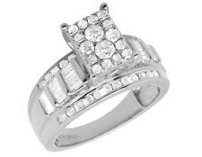 Fine Rings Hombres Diamante Auténtico 4 Fila Alianza Anillo En 10k Oro Amarillo 1.45ct 7mm