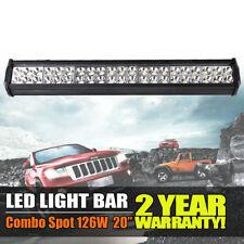 """126W 20"""" LED Work Light Bar 12V Combo Spot Beam Offroad Fog Car Driving Lamp UK"""