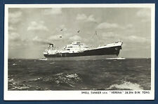ST VERENA Shell Tanker 29294 dwt BW Real Photo Postcard