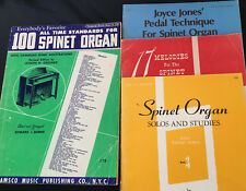 Spinet Organ- 4 Songbooks: 100 Standards; Melodies; Solos & Studies; Pedal Tech.
