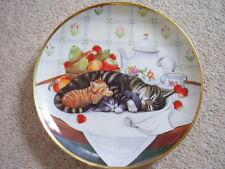 Franklin Mint England Porcelain cat plate,Cat nap