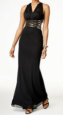 B&A by Betsy and Adam New Beaded Halter Gown Size 4 #EN 892