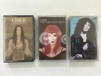 Bundle of 3 CHER Audio Cassette Tapes - Greatest Hits,Believe, Cher Album