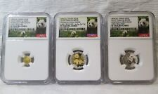2016 HSNA Bamboo Panda Hawaii Coin Expo 3pc Gold & Silver NGC PF70 Set