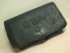 1861-'65~Csa~Civil War Confederate Musket Cartridge Ammunition Leather Pouch~