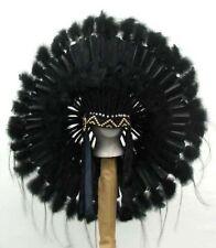 Native American Black Mesa Feather Headdress War Bonnet