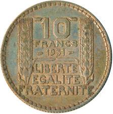 FRANCE / 10 SILVER FRANC 1931  #WT4841
