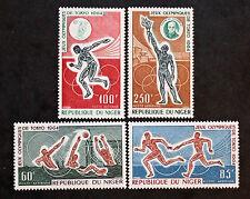 Timbre NIGER Stamp - Yvert et Tellier Aériens n°45 à 48 n** (Col3)