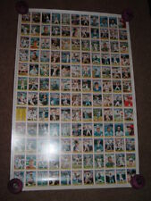 United Kingdom 1988 Uncut Sheet on Tops Chewing Gum Inc. Baseball Cards.