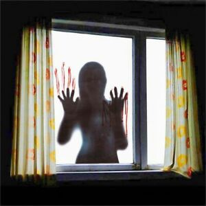 Ghost Adhesive Horror Sticker Window Clings Wall Sticker Halloween Decoration