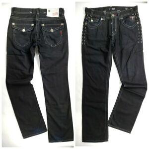 MEK DENIM The Buckle Men's BOSTON Straight Leg BLACK Jeans 32 x 34 NEW