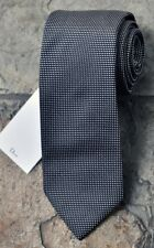 NEW Dior Classic Mans Silk Tie Black White Dots 100% Authentic Italy Made