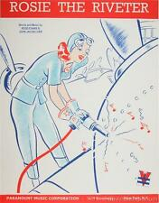 Rosie the Riveter Vintage Sheet Music Cover Fine Art Lithograph S2
