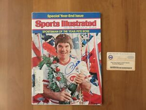 PETE ROSE AUTHENTIC SIGNED 1975 SPORTS ILLUSTRATED MAGAZINE  RARE STEINER  COA