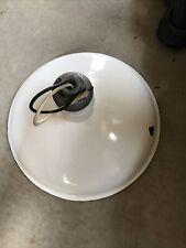"16 3/8"" Vintage Porcelain Lamp Shade White with light socket"