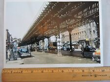 1950 3 Av El Color Photo Subway New York City NYC Old Cars