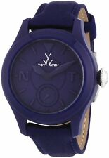 ToyWatch Women's Quartz Watch Blue Steel Case Leather / Fabric Strap TTF02BL