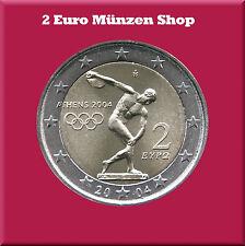"""2 Euro Gedenkmünze Griechenland 2004 """"Olypische Spiele in Athen 2004"""""""
