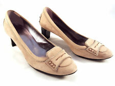 TOD's Beige Suede Slip On Pumps, med heels, Women's Shoes Size US 6.5
