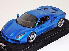 1/18 MR Collection Ferrari 488 Spider Hard Top in Blue Corsa Alcantara Base