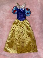 Disney Princess Barbie Doll Dress Gown Gorgeous Snow White Blue And Yellow