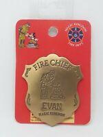 Disney Magic Kingdom Fireman & Mickey Mouse Fire Chief Badge /Pin For EVAN