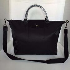 Longchamp Le Pliage Neo Medium Black Hobo Handbag 1515