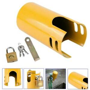 Security Outside Lock Tap Protective Cover Iron Garden Against Theft FW