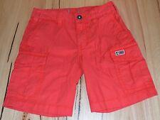 Napapijri Boys Cargo Shorts - RED - SIZES - 4,10,12 & 14 YEARS - NEW