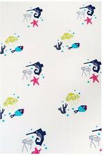 Nursery Works Oceanography Organic Cotton Percale Sheet, Sea Animals Euc