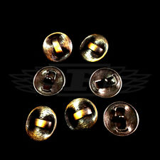 PACK OF 10, 25mm ROUND METAL OXY BRASS LINE EFFECT BUTTON BUTTONS BTN (28339-40)