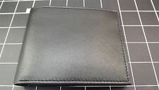 """Genuine Leather """"IDENTITY THEFT PROTECTION"""" BILLFOLD WALLET BLACK BRAND NEW"""