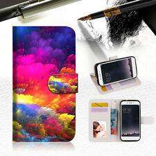 Colorful Cloud Wallet TPU Case Cover For OPPO F1S-- A021
