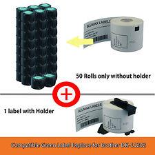 50+1 Blumax Shipping Label Replace Brother DK11202/DK-11202-62x100mm QL500/550