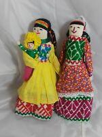 """Peruvian Cloth Doll Set of 2 Dolls 10"""" Tall"""