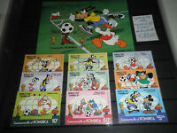 "FRANCOBOLLI DOMINICA 1982 ""CALCIO WORLD CUP DISNEY"" MNH** SET + BLOCK (CAT.A)"