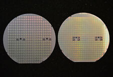 """Silicon wafer 6"""" set of two - Vintage MIPS CPU R3000A and FPU R3010A circa 1990"""