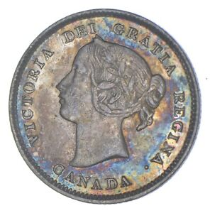 Better Date - 1893 Canada 5 Cents - SILVER *794