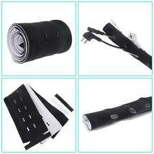 Multihole Management Cable Sleeve Neoprene Cord Cover Kit Cuttable Cable Wrap