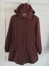 JACQUES VERT~ burgundy rain coat/mac/anorak~detachable fleece lining~Size 10/12