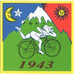 Albert Hofmann Bike Ride Green - Blotter Art
