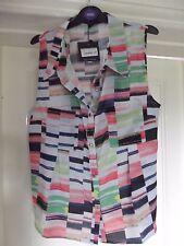 Cutie - coloured sleeveless block top Size 16 BNWT RRP £26