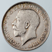 1911 Great Britain 1 Florin AU Condition KM #817