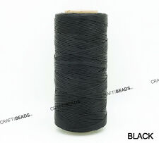 1x0.5MM Flat Waxed Polyester Cord Beading Thread Leather Craft Stitching String