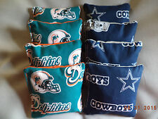 Cornhole bags Dallas Cowboys Miami Dolphins bean bags NFL 8 ACA Regulation size