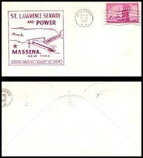 USA Cover 1954 Massena, NY (A16) ST. Lawrence Seaway & Power Ground Breaking