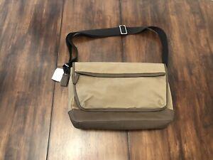 NWT COACH Men's Crossbody Messenger Nylon Leather Bag~Brown $395