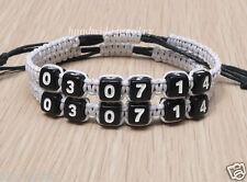 Date Bracelet Couples Bracelets set Valentine's Day gift Anniversary Jewelry