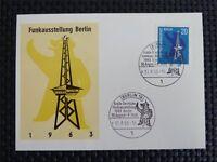 BERLIN MK 1963 232 FUNKAUSSTELLUNG MAXIMUMKARTE CARTE MAXIMUM CARD MC CM c5156